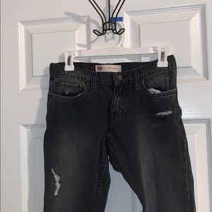 Levi's black ripped jeans ( size 14 )